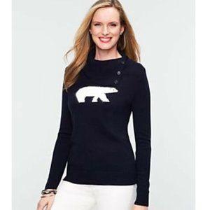 Talbots Polar Bear Lambswool Blend Sweater